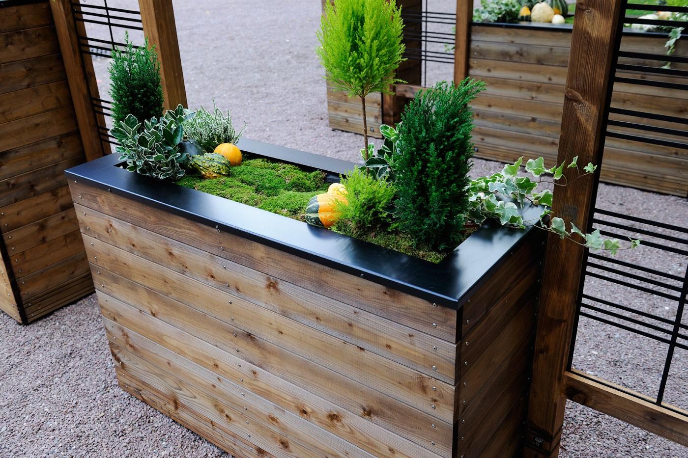 Jardinière En Bois En Hauteur jardinière en bois rectangulaire selekt 120 x 45 x 76 cm