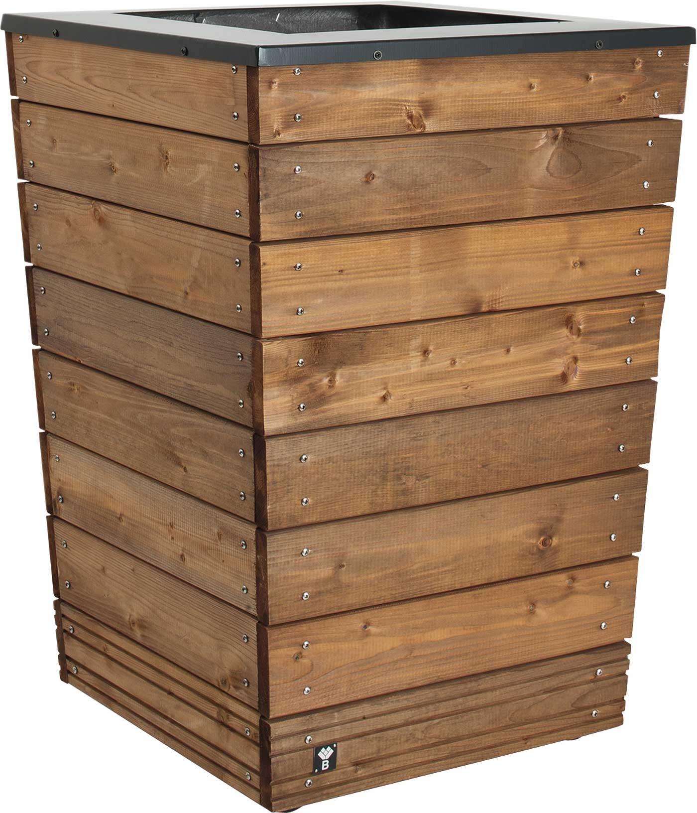Jardini re en bois conique selekt 55 x 55 x 76 cm - Jardiniere bois ...