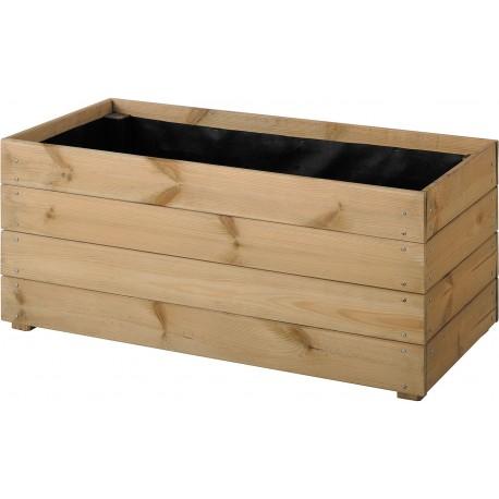 Jardinière en bois rectangulaire Essencia 80 x 40 x 39,5 cm