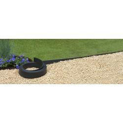 Bordure de jardin en polyuréthane 1500 x 0,45 x 12 cm Noire