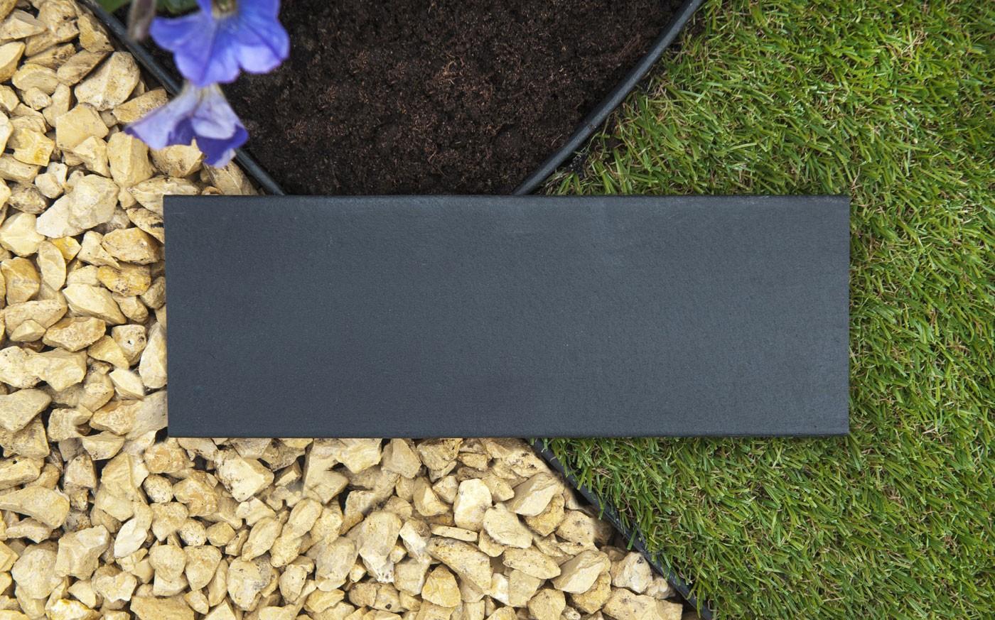 jardin plastique H.9 cm x 5 m Noire