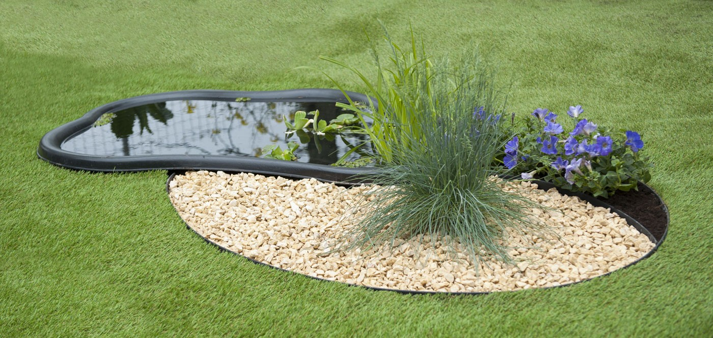 Bordure jardin plastique H.9 cm x 5 m Noire