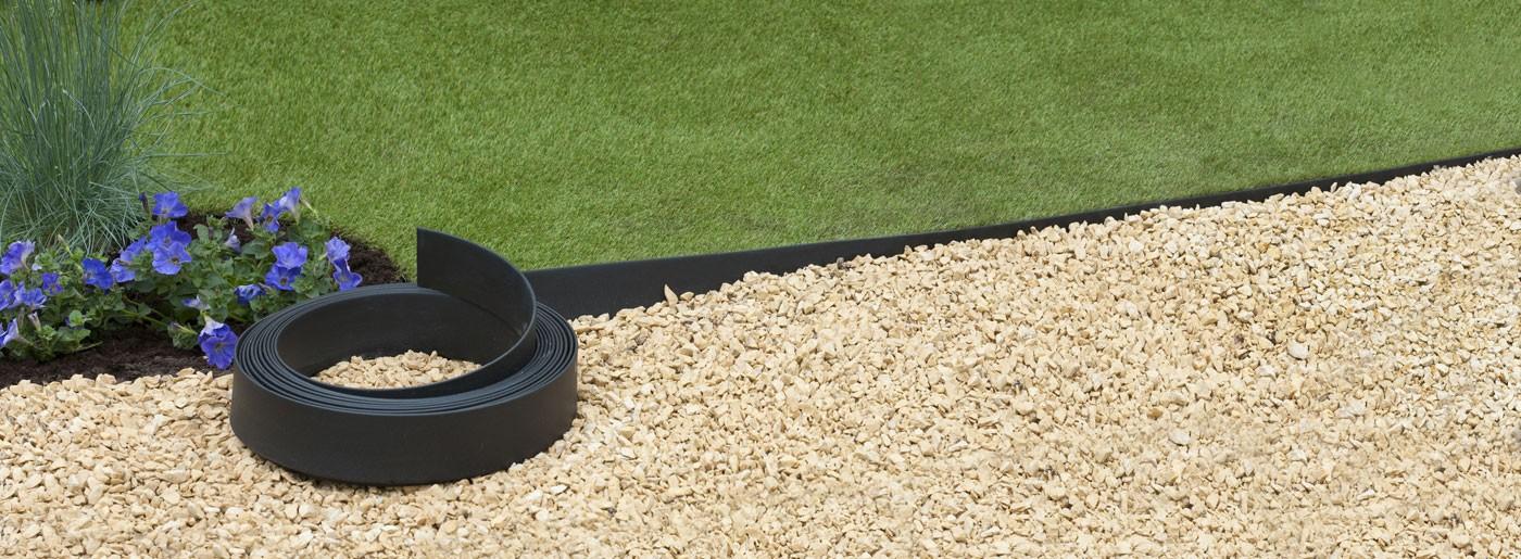 bordure jardin plastique h 9 cm x 15 m noire