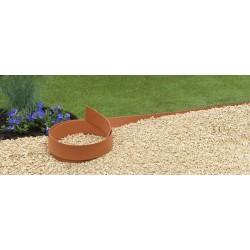 Bordure de jardin en polyuréthane 500 x 0,45 x 9 cm Terracotta