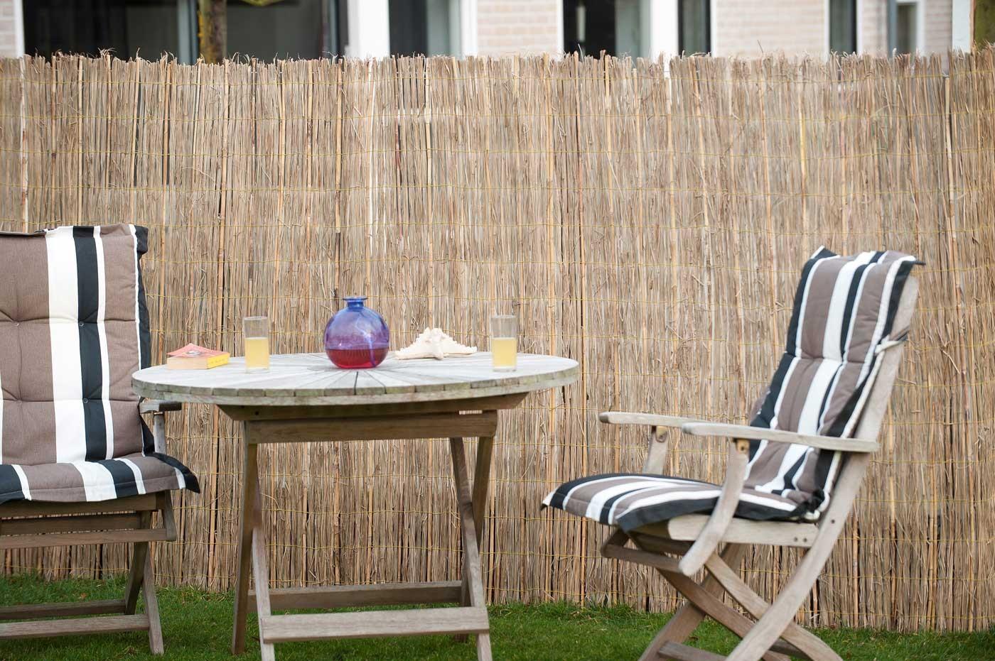 brise vue canisse de jardin en bambou naturel fendu 500 x 150 cm