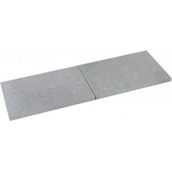Pas japonais en pierre naturelle granit flammée 60 x 40 x 2 cm Abysse