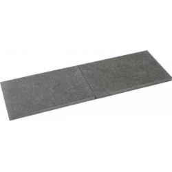 Pas japonais en pierre naturelle granit flammée 60 x 40 x 3 cm Nero