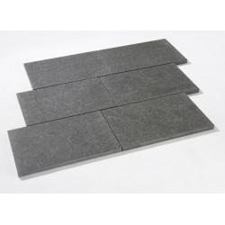 Dalle en pierre naturelle granit flammée noire 60 x 40 x 3 cm nero