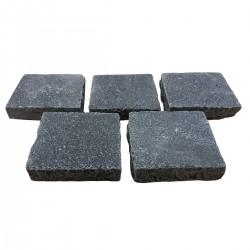 Pavé Calcaire 14 x 14 x 3/5 cm Noir