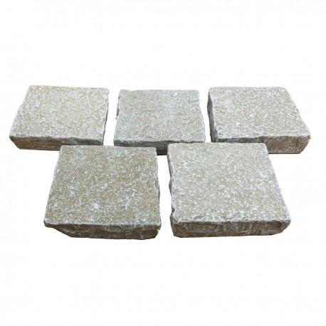 Pavé Calcaire 14 x 14 x 3/5 cm Jaune nuancé