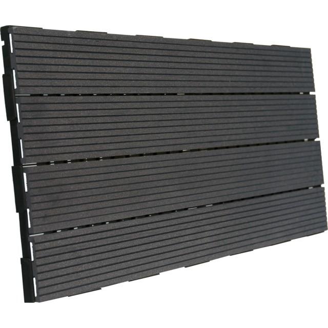 dalle terrasse clipsable composite gris 30 x 60. Black Bedroom Furniture Sets. Home Design Ideas