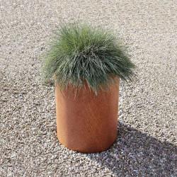 Jardinière en acier corten ronde 40 x 40 x 40 cm