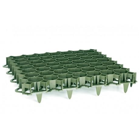 Dalle à engazonner 47 x 47 x 3,9 cm, résistance : 3,5 tonnes