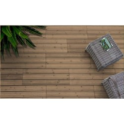 Dalle Terrasse Clipsable Pin 118 x 39 cm Marron