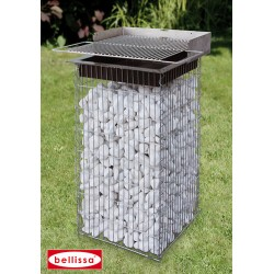 Barbecue de Jardin en Gabion 40 x 40 cm Sans Galet