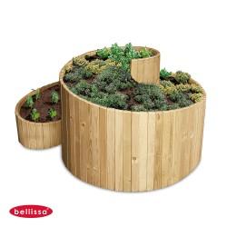 Jardinière en bois spirale 120 x 120 x 80 cm
