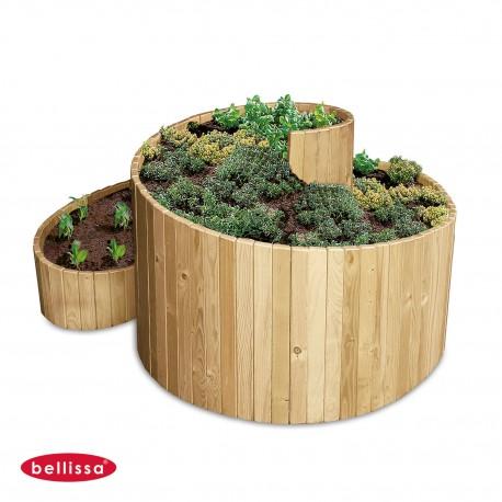 Jardinière Bois Spirale 120 cm