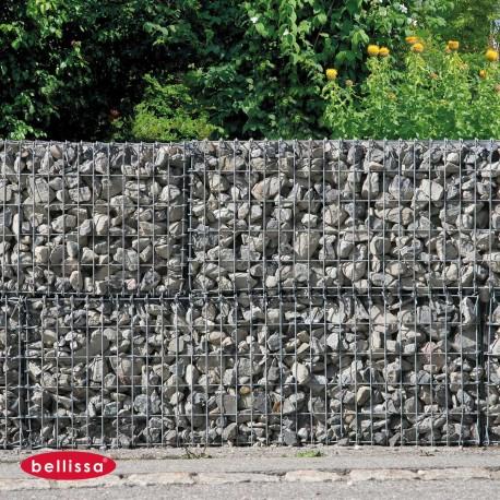 Gabion Cage Métallique 150 x 50 cm Avec Galets