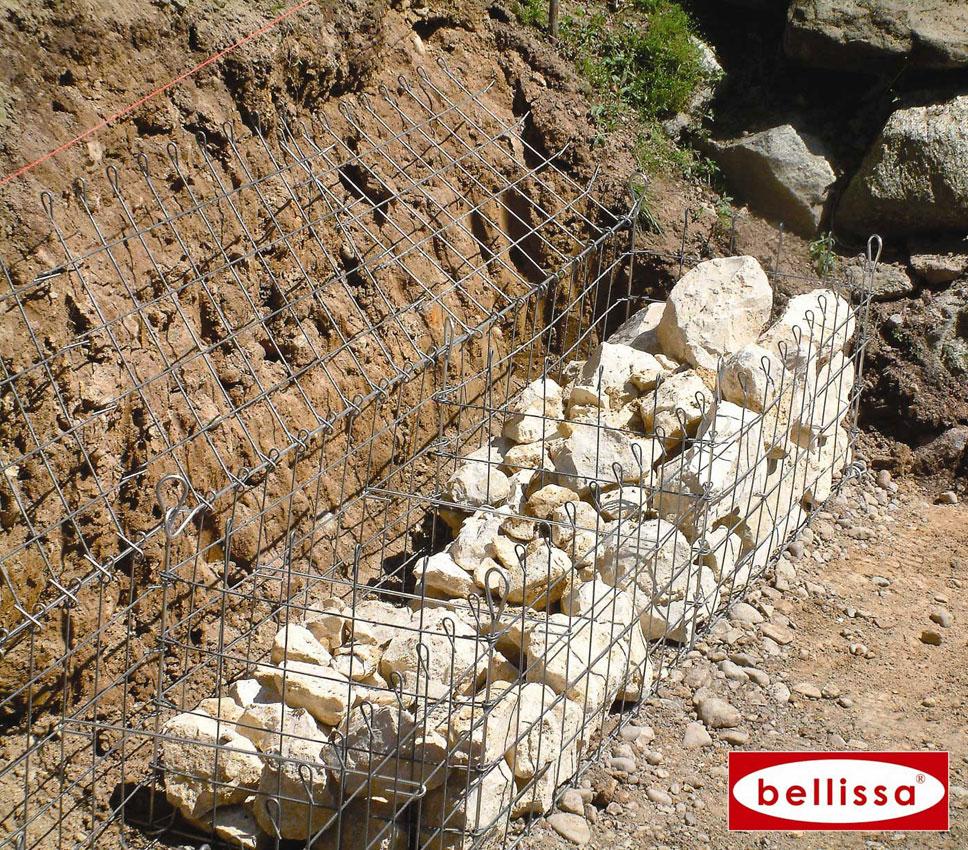 Gabion pro cage m tallique 50 x 50 cm avec galets for Kuchenschrank 50 x 50