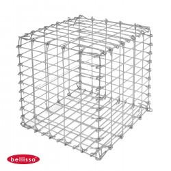 Gabion Cage Métallique 50 x 50 cm Avec Galets