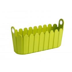 Jardinière en polypropylène rectangulaire 39 x 15 x 19 cm vert