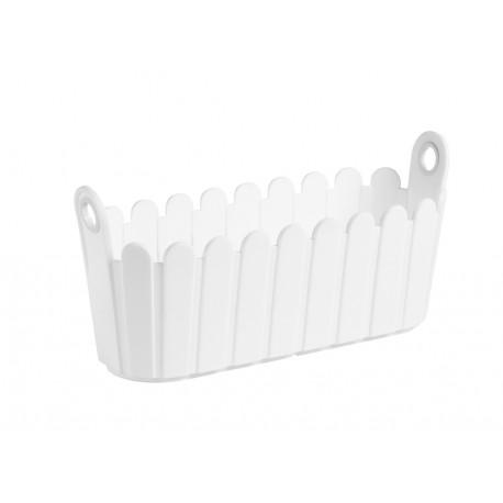 Jardinière en polypropylène rectangulaire 39 x 15 x 19 cm blanc