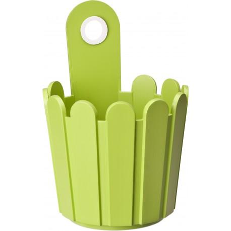 Jardinière en polypropylène ronde 15,5 x 15,5 x 14 cm vert