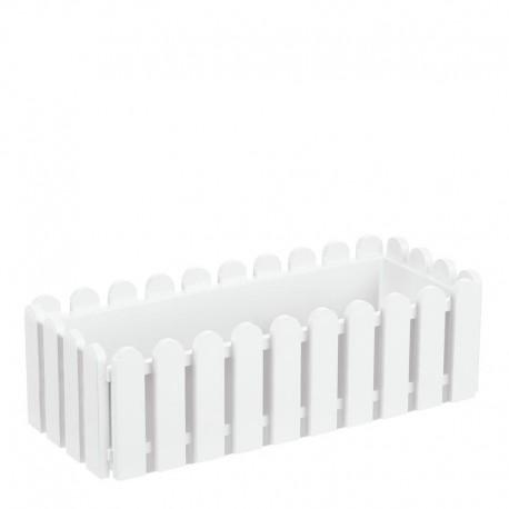 Jardinière en polypropylène rectangulaire 50 x 20 x 16 cm blanc