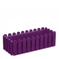 Jardinière en polypropylène rectangulaire 50 x 20 x 16 cm violet