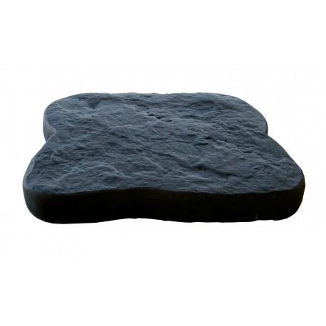 Mini pas japonais en pierre reconstituée anthracite 20 x 16 x 3 cm