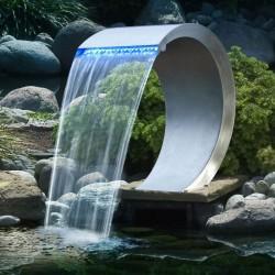 Cascade de jardin en inox rectangulaire Mamba LED 54 x 38 x 61,5 cm