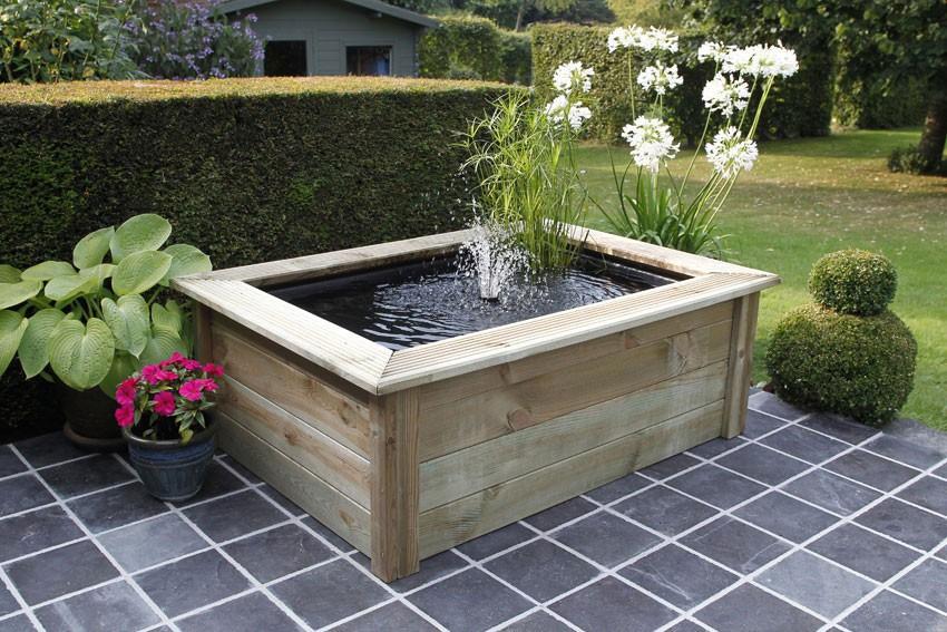 Cadre bois quadra for Houten vijverbak