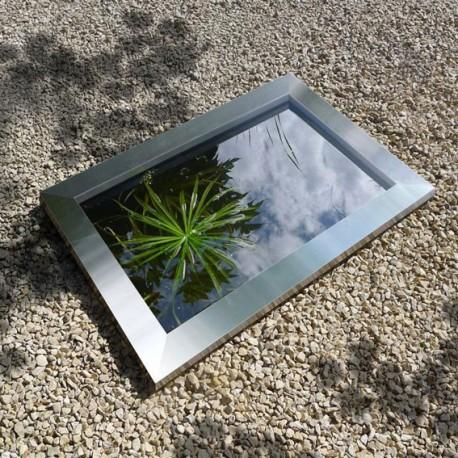 Cadre en inox Quadra pour bassin de jardin en polyéthylène Quadra C3