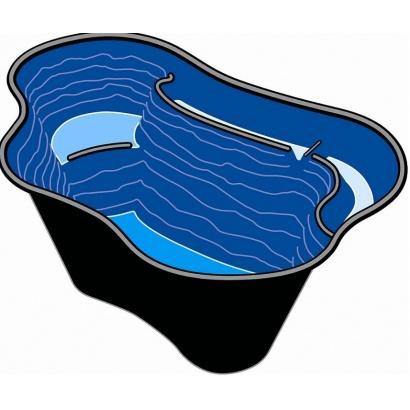 bassin de jardin en poly thyl ne calmus sii 135 x 90 x 45 cm. Black Bedroom Furniture Sets. Home Design Ideas