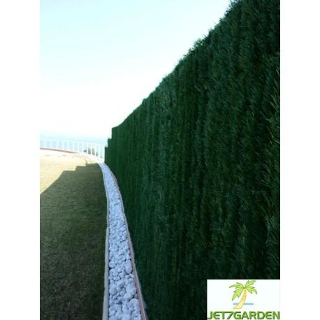 Haie artificielle de jardin en PVC 126 brins Ultra 300 x 120 cm