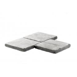 Pavé pierre naturelle bleue vieillie 15 x 15 cm ép. 2 cm de face