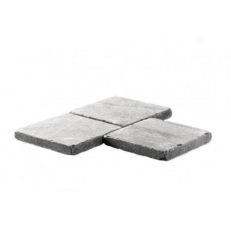 Pavé pierre naturelle bleue vieillie 15 x 15 cm ép. 2 cm trio