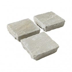 Pavé en pierre naturelle orient grey 14 x 14 x 3/5 cm
