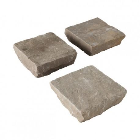 Pavé en pierre naturelle orient mixed color 14 x 14 x 3,5 cm
