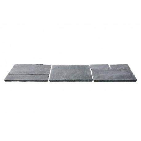 Dalles en pierre naturelle orient nero ép. 2 cm, module 0,72 m2