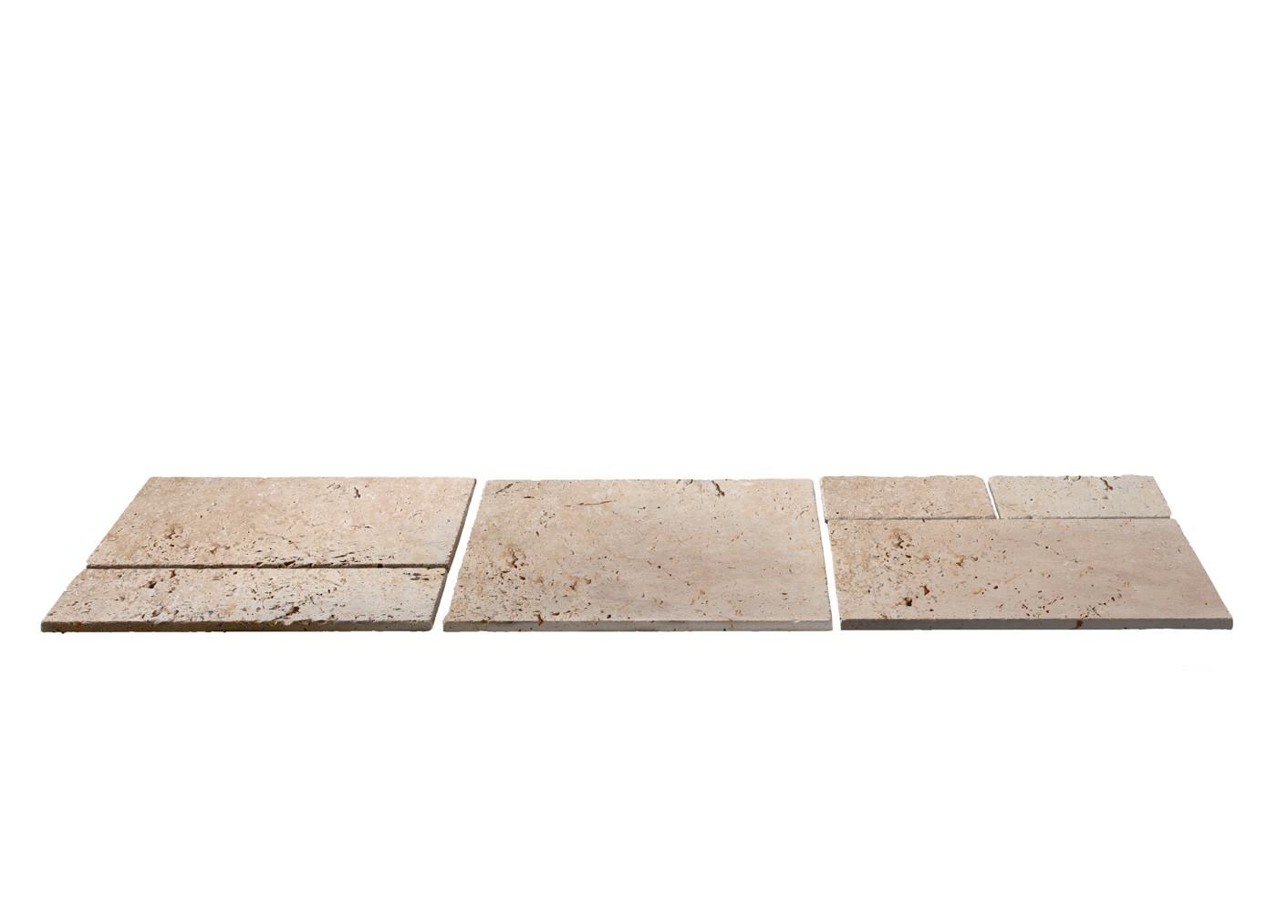 dalles en pierre naturelle travertin p 1 2 cm module de 0 74 m2. Black Bedroom Furniture Sets. Home Design Ideas