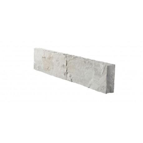 Bordure de jardin en pierre naturelle palissade gris orient 100 x 8 x 20 cm