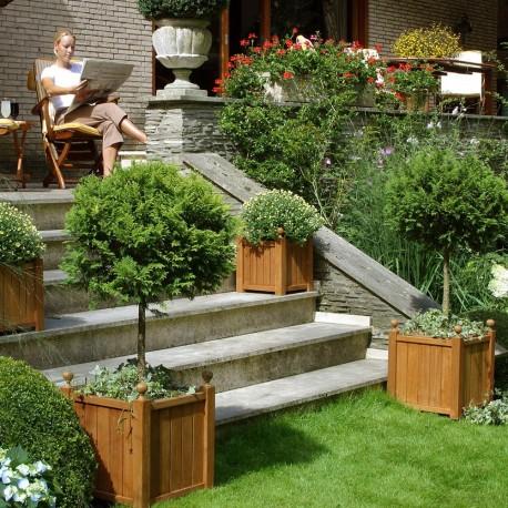 Jardinière en bois carrée 45 x 45 x 52 cm