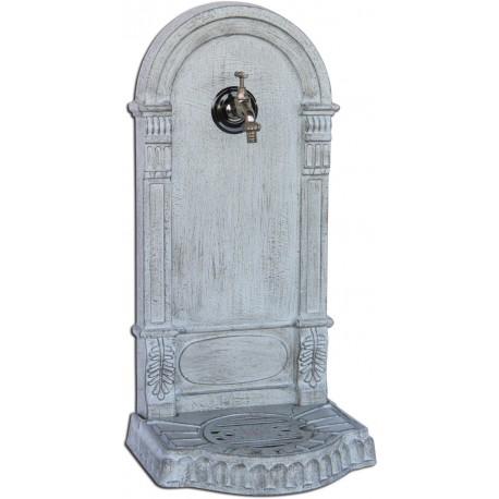 Fontaine de jardin en fonte Eva 36 x 31 x 75 cm gris