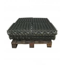 Palette de 5,06 m2 de dalles à engazonner 47 x 47 x 3,9 cm, résistance : 3,5 tonnes
