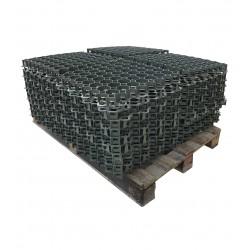 Palette de 10,12 m2 de dalles à engazonner 47 x 47 x 4,9 cm, résistance : 3,5 tonnes