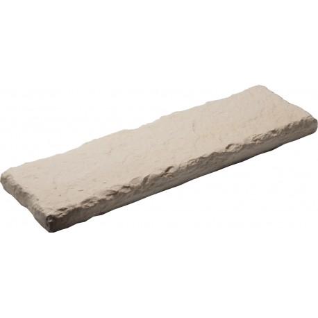 Dessus de muret en pierre reconstituée aspect ardoise 50 x 15 x 3 cm ocre