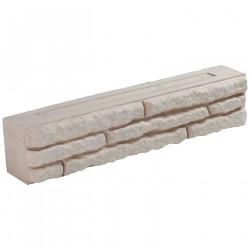Bloc muret en pierre reconstituée 50 x 9 x 10 cm ocre