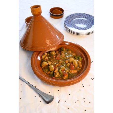 Plat tajine de cuisson en terre cuite 29 cm
