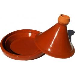 Plat tajine terre cuite tagra 33 cm et son brasero cm sans armature - Plat a tajine en terre cuite ...